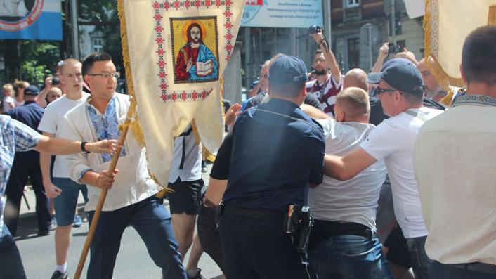 Przepychanki podczas ukraińskiej procesji. Kto zawinił? [Galeria zdjęć]