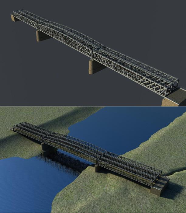 """Porównanie obecnego mostu i koncepcji akcji """"Uratujmy Most w Przemyślu"""""""