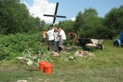 Krzyż przy moście na rz.. Wyrka