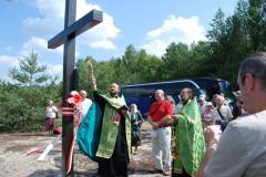 Poświęcenie krzyża w Ożgowym