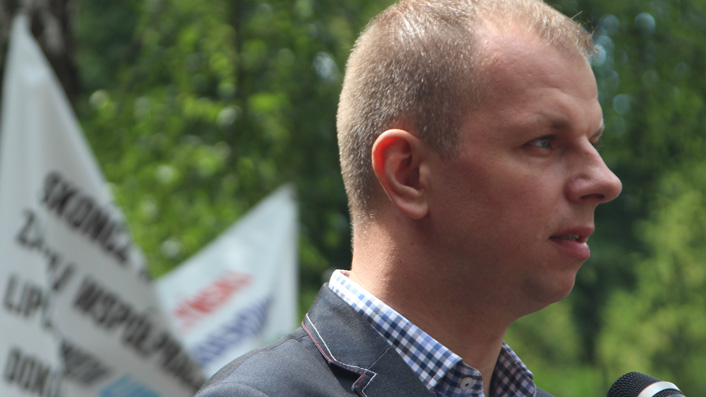 Wojciech Bakun zdaniem Ruchu Narodowego szansą na pokonanie Roberta Chomy w zbliżających się wyborach samorządowych